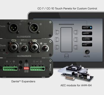Allen&Heath live dlive avantis audio pro network dante exhibo audiofader