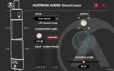 Austrian Audio oc818 StereoCreator plug-in audio software daw free gratis freeware audiofader