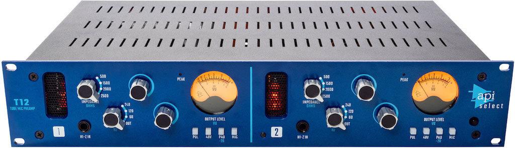 API Select T12 preamp tube valvolare hardware rack api500 processing mix record funky junk audiofader