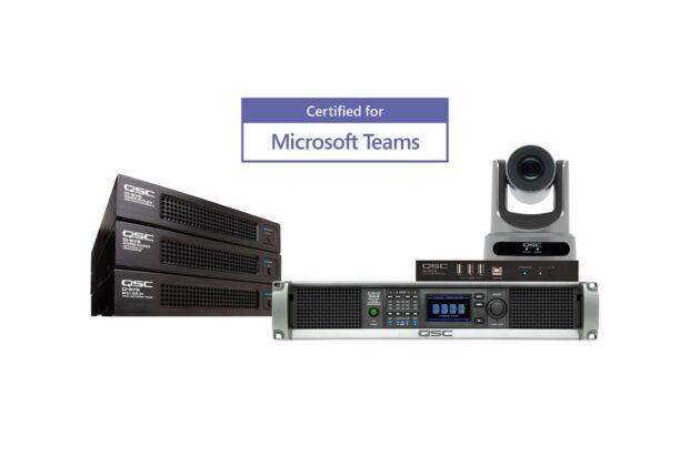 QSC Microsoft Teams exhibo live audio video audiofader azienda rooms