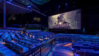 QSC jungle cruise premiere disney movie impianto pa pro audio exhibo audiofader