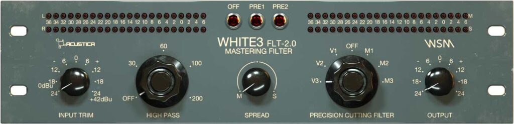 Acustica Audio White 3 filter mastering virtual wsm peq 2.0 tommy bianchi audiofader