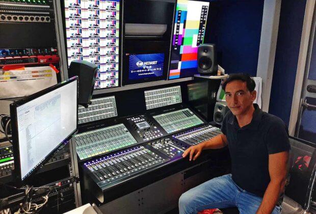SSL Mediaset broadcast superficie di controllo hardware digital tv audiofader
