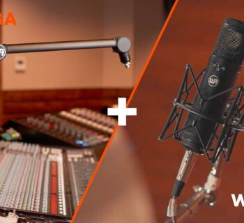 Warm Audio WA-47jr WA-MBA studio microphone bundle microfono asta boom hardware recording studio cavo midiware audiofader