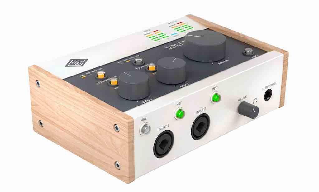 Universal Audio Volt 276 interfaccia audio mobile iphone ipad pc mac hardware home studio recording midiware audiofader